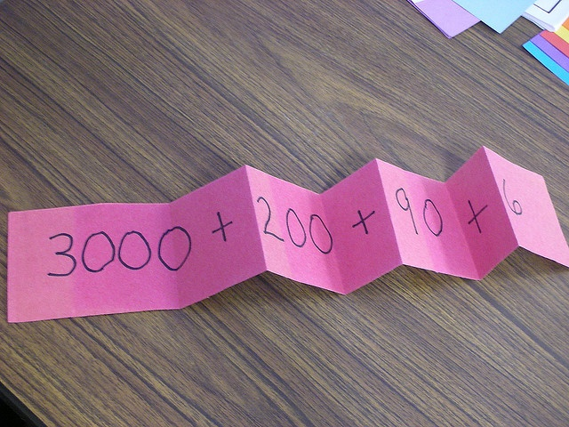 Good idea to show expanded form in Math. :D