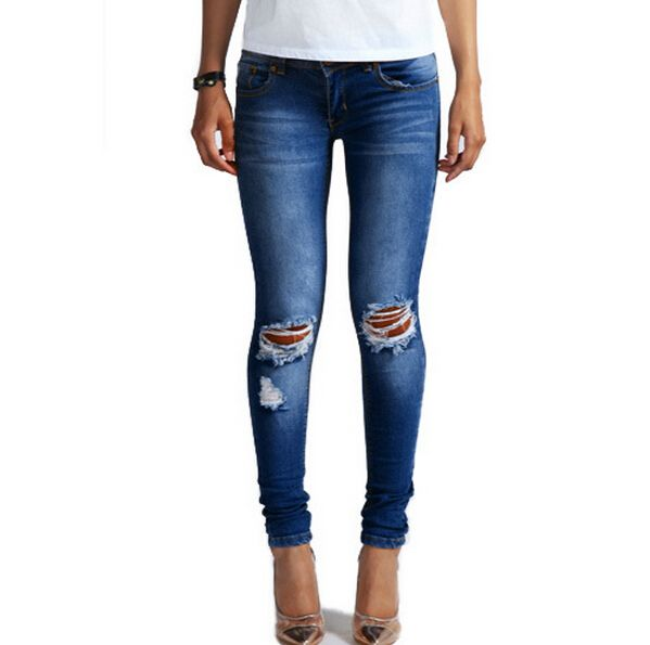 Купить товарДамы хлопок простирание брюки карандаш деним джинсы женщин отбеливатель узкие колено рваные джинсы для женское в категории Джинсына AliExpress.     StartIsvModuleWrap4620        Отдельные покупки, после покупки, чтобы позволить продавцу изменить цену          Разм