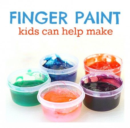 Easy finger paint recipe that kids can help make!