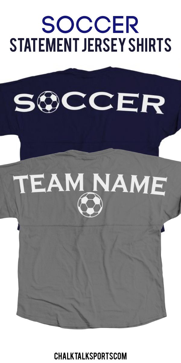 Get cozy this Fall with our popular long sleeve crew neck Statement Jersey Shirts!  These over-sized shirts are guaranteed to be super comfy and perfect for game day or any day! Add your monogram to the front to make it a truly special gift for any soccer player or soccer fan! These make great team gifts and end of season gifts only from ChalkTalkSPORTS.com!