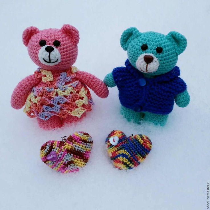 Купить Мишка. Мишутка. Мальчик или девочка - бирюзовый, розовый, игрушка в одежде, мишка, мишутка