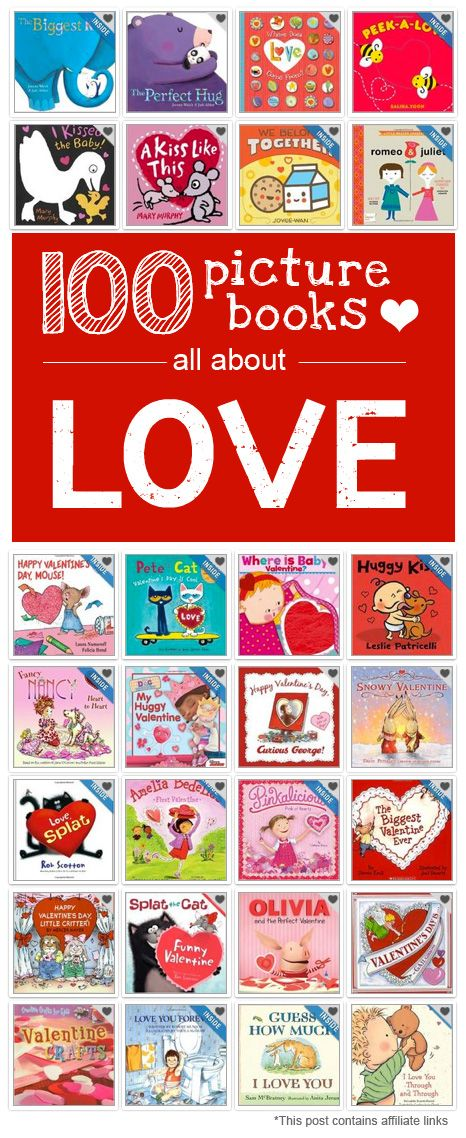 {100 Books about LOVE for Valentine's Day} *Reserving some of these titles from the library...