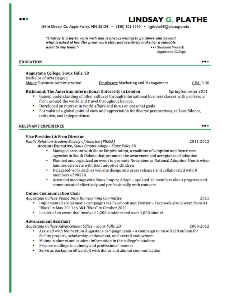 No shortage of experience Resume examples, Good resume