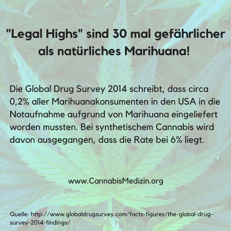 """Der Konsum von """"Legal Highs"""" kann massive Nebenwirkungen auslösen, da diese mit unbekannten, unerforschten, synthetischen Stoffen versetzt sind.  Der Erfolg der sogenannten """"Legal Highs"""" ist auch der verfehlten Drogenpolitik zuzuschreiben.  Würde es eine legale Möglichkeit geben Marihuana zu kaufen, welche außerdem Qualitätsstandards unterliegt, so wie etwa beim Alkohol, dann würden viele Menschen nie auf die Idee kommen """"Legal Highs"""" zu konsumieren."""