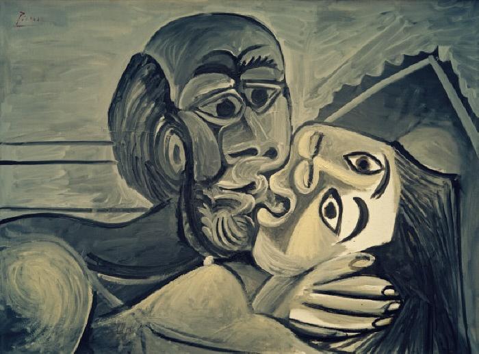 2-M170-L1-1969-16 (996544) 'Le Baiser' Picasso, Pablo; 1881-1973. 'Le Baiser' (Der Kuss), 24. Oktober 1969. Öl auf Leinwand, 96,8 x 130,2 cm. Dallas, Privatsammlung. E: 'Le Baiser' Picasso, Pablo; 1881-1973. 'Le Baiser' (The Kiss), 24 October 1969. Oil on canvas, 96.8 x 130.2cm. Dallas, private collection. F: 'Le Baiser' Picasso, Pablo; 1881-1973. 'Le Baiser', 24 octobre 1969. Huile sur toile, 96,8 x 130,2 cm. Dallas, coll. privée. MONDADORI PORTFOLIO/AKG Images
