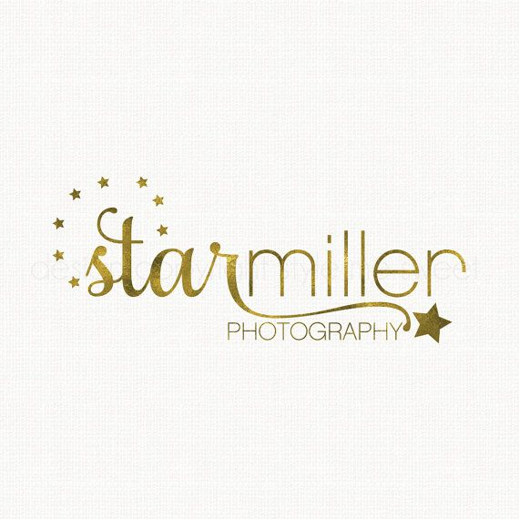 Star Logo Design Typography Logo Photography by stylemesweetdesign