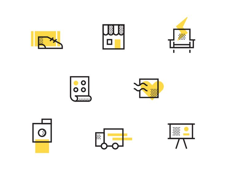 Conference Signage Icons by Mike Hegberg #Design Popular #Dribbble #shots