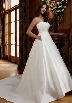 Great Taffeta A line Zipper up Sweetheart Chapel Train Bridal Dress - Lunadress.co.uk