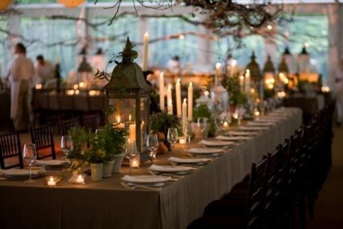 Lanterns : Plants Can, Tables Sets, Paper Lanterns, Lanterns Centerpieces, Tables Centerpieces, Centerpieces Wedding, Dinners Parties, Tables Arrangements, Wedding Centerpieces