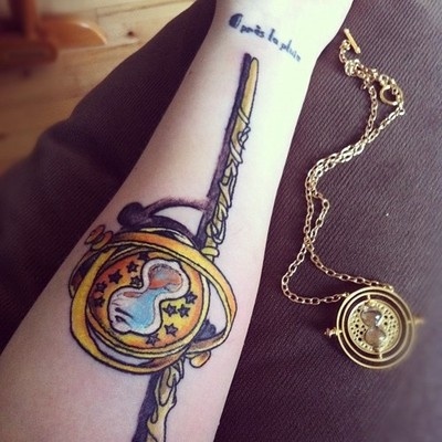 Inspirational Time Turner and wand
