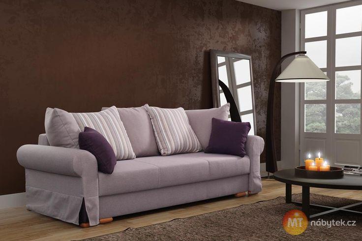 Rozkládací pohovka s úložným prostorem Delores #settee #sofa #divan #couch