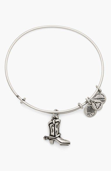 Alex and Ani 'Cowboy Boot' Expandable Wire Bracelet available at #Nordstrom
