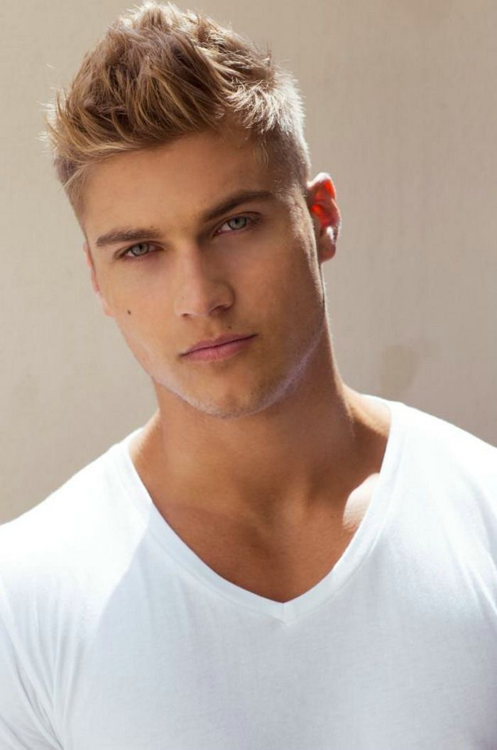 2014 Blonde Spike Mens Undercut Hairstyle