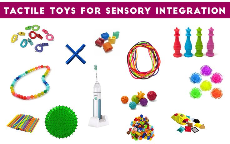 Tactile Toys: Toys for Sensory Defensiveness and Tactile Stimulation Providing your child with tactile toys for sensory integration to awaken their sensory receptors can decrease fidgeting, attention issues and behavior problems in the classroom. Kids who suck on their shirts, fidget at their desk, chew on pens and pencils, and seek out extreme flavors and textures may need tactile toys at their desk or in the home to calm... Read More
