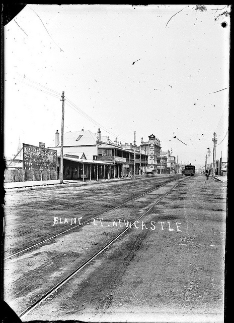 Blane Street (Hunter Street), Newcastle, NSW, 21 January 1891 by Cultural Collections, University of Newcastle, via Flickr
