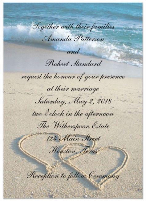 beach wedding invitations templates free 24+ beach wedding invitation templates – free sample, example
