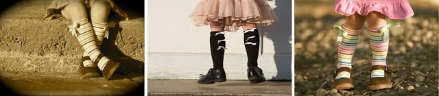 tutorial: sokken van te kleine mailot ~Ruffles And Stuff~: Tiny Tights to Knee-High Socks