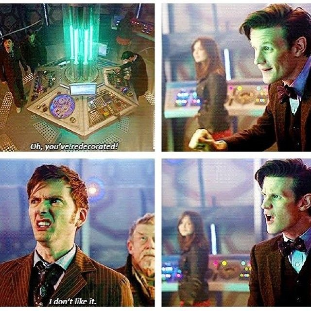 #davidtennant #doctorwho #mattsmith from 50th anniversary special Too funny! Love #10's face..haha!