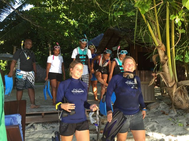 An 'office' in the tropical sea – British teacher swaps music lecturing for diving in the Seychelles.  #gvi #bethedifference