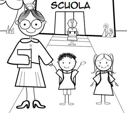 Disegni da colorare per i vostri bambini scuola - Indietro a scuola foglio da colorare ...