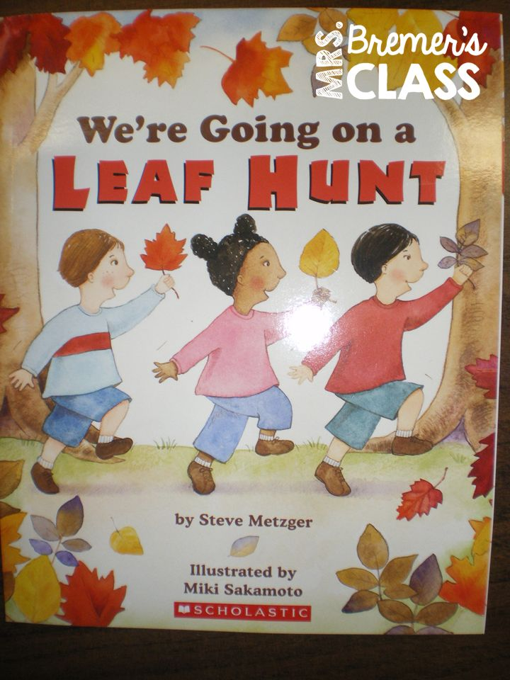 Activities to go with the fall book We're Going on a Leaf Hunt.