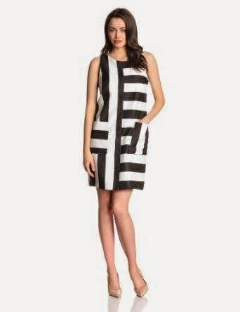 black shift dress: Black And White Shift Dress