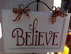 Believe vinyl on a cupboard door with a handle.  I love this look for Christmas!