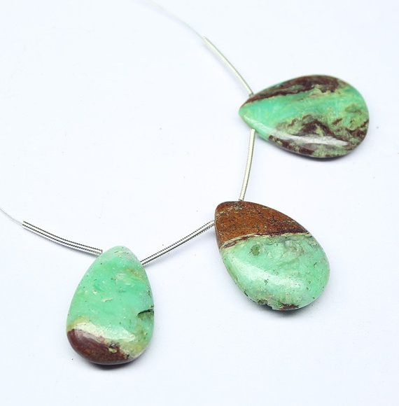 Natural Green Chrysoprase Smooth Pear Drop Beads Strand, – Jewels Exports
