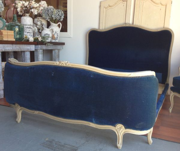 Antique French Louis Double Corbeille Bed
