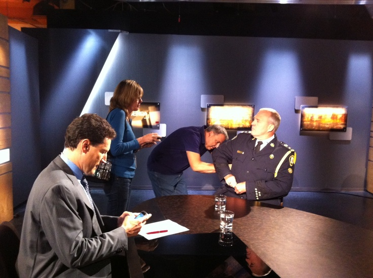 Toronto Police Chief Bill Blair preparing for his interview with Steve.