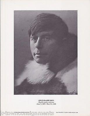 Knud Rasmussen Arctic Explorer Eskimology Vintage Portrait Gallery Photo Print