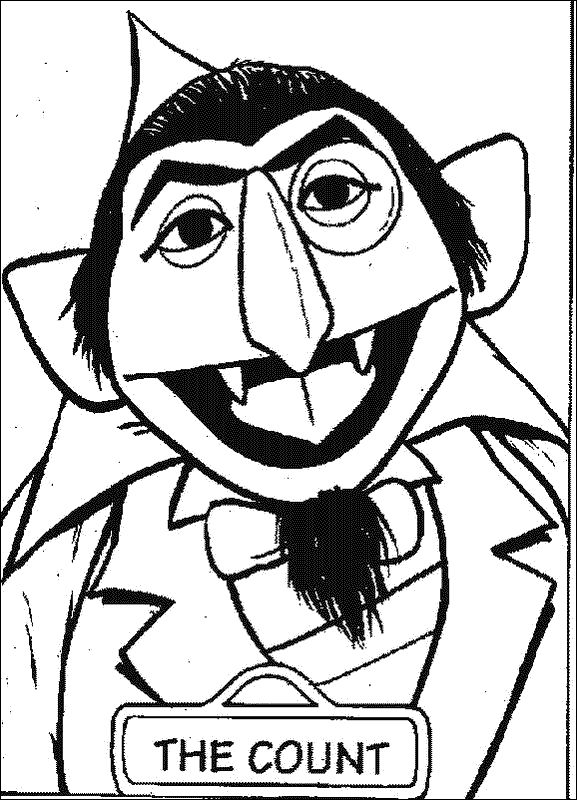 sesame street charactor the count coloring sheets the count