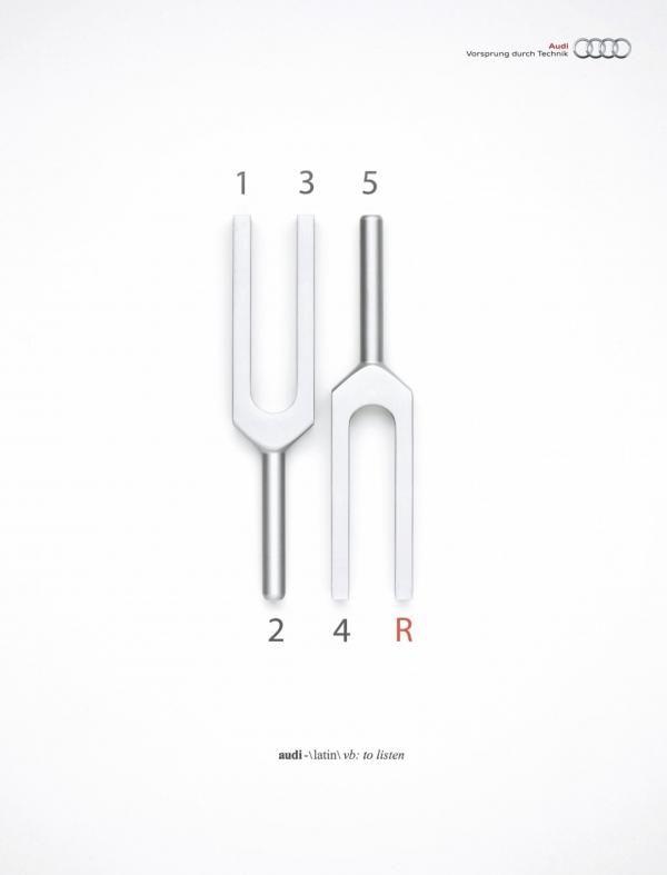 TUNING FORKS - Audi Print Ad