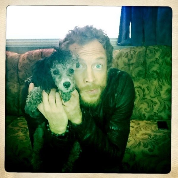 Kris Holden-Ried | Dyson | Lost Girl | Kris with puppy, d'awww