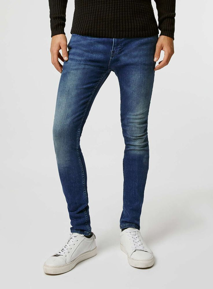 Mid Wash Blue Spray On Jeans