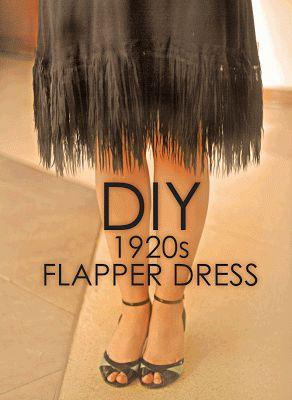 Vestir de Sentido: DIY: 1920s Flapper dress - vestido flapper. www.vestirdesentido.com