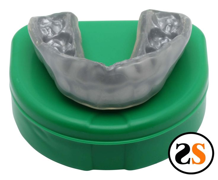 This is one of our plain silver 6mm thick mma style mouth