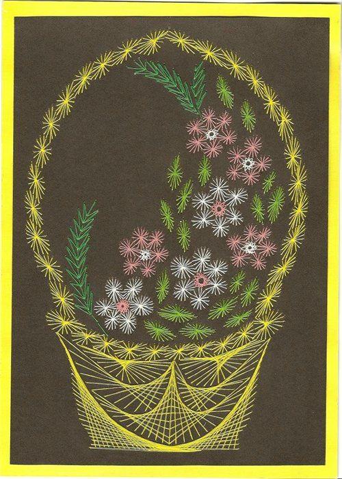 Изонить схемы цветы - Новость от. угла в технике изонить: 1 в этой темке я выложила схемы вазы, букеты цветов своими.