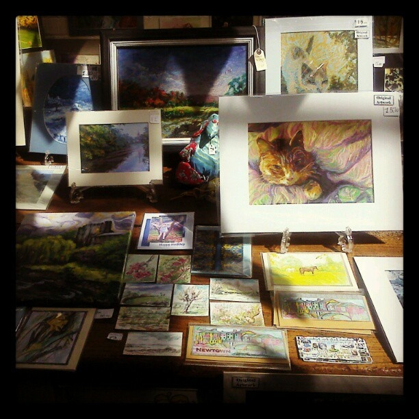 Linandara my art and craft market stall from last week for Table 9 newtown