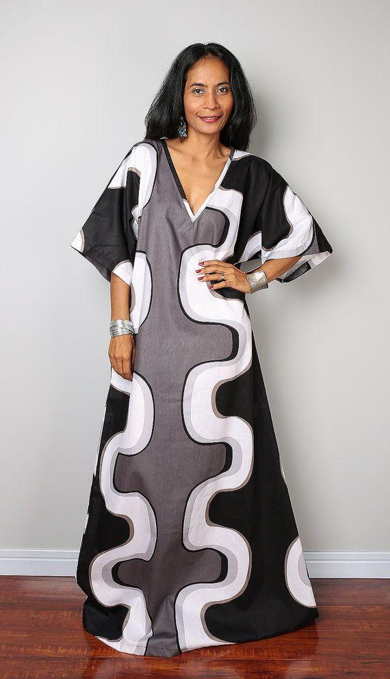 Trendy Kaftan Dress / Maxi Dress / Long Summer Dress : by Nuichan