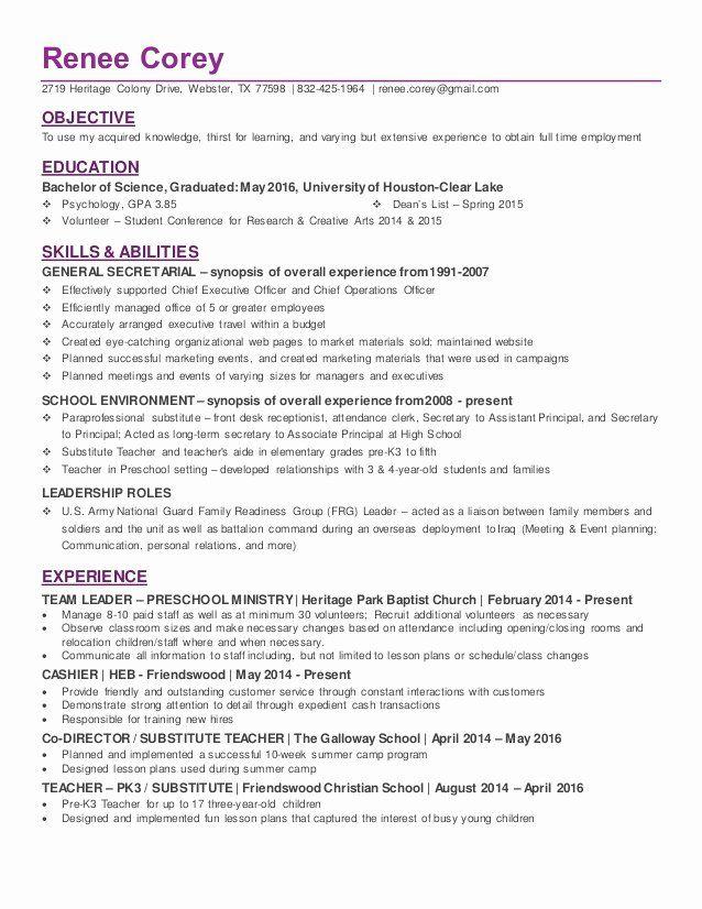Entry Level Psychology Resume Lovely Recent College Graduate In Psychology Resume Graduate School Job Resume Samples Resume Examples