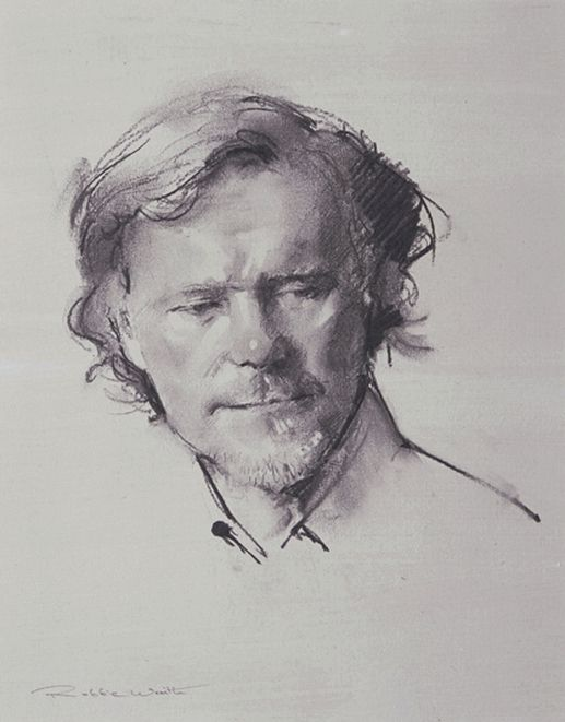 Robbie Wraith 'Jeffrey' charcoal portrait drawing