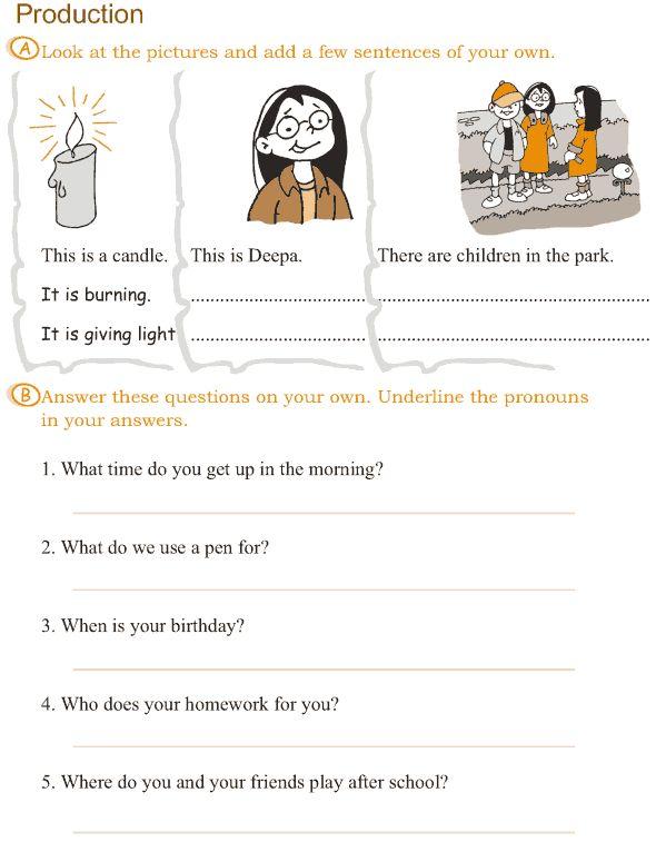 Free Worksheets grade 4 worksheets : Grade 3 Grammar Lesson 14 Pronouns (5) : Grade 3 Grammar ...
