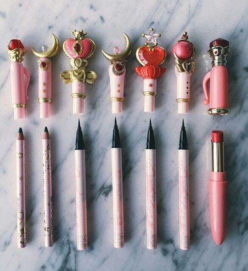 Imagen de sailor moon, makeup, and pink