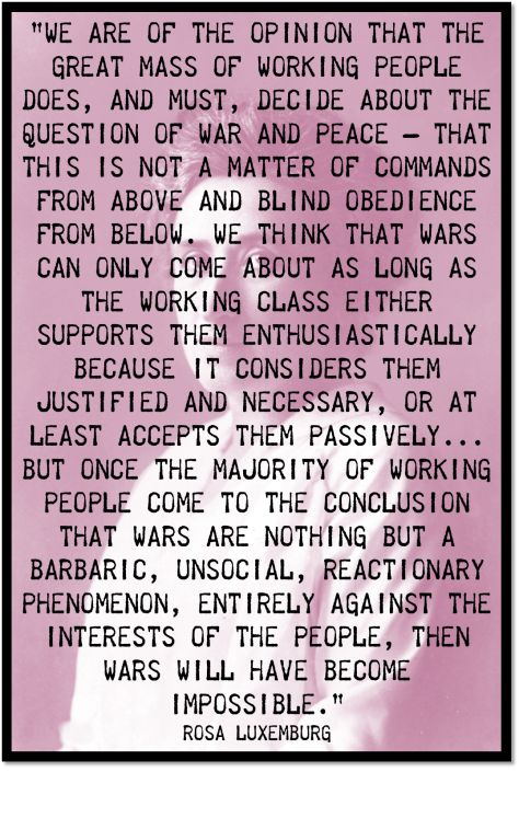 Rosa Luxemburg war quote