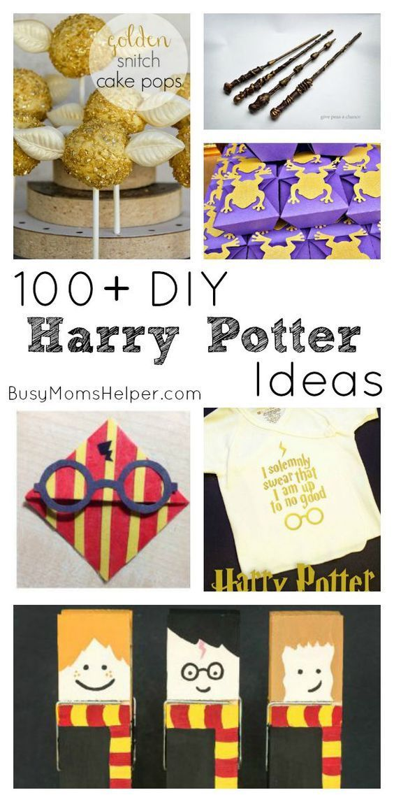 100+ DIY Harry Potter Ideas / Round up by Busy Mom's Helper