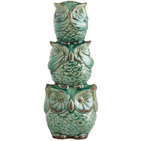 Hear, See & Speak No Evil Owl Bank