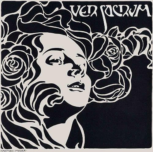 Koloman Moser (Artiste Art Nouveau) - VER SACRUM (frontispice de la revue)