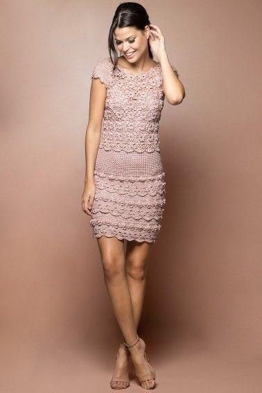 Pearl Poupee Crochet Dress - Vanessa Montoro USA - vanessamontorolojausa