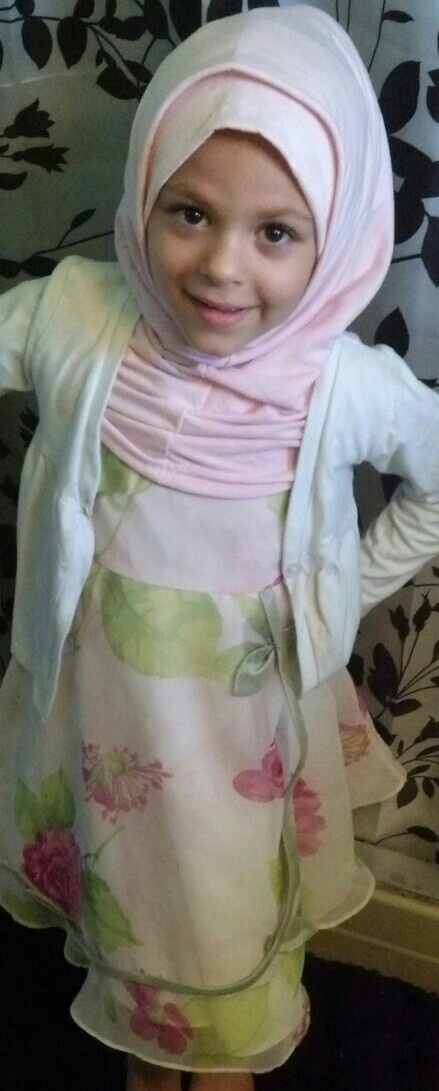 Morgan's Eid outfit with hijab